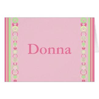 Carte nominative moderne de cercles de Donna - 369