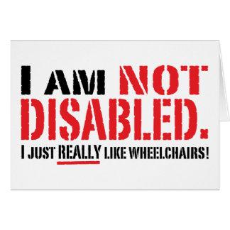 Carte non handicapée