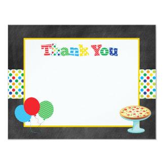 Carte Note de Merci de partie de pizza