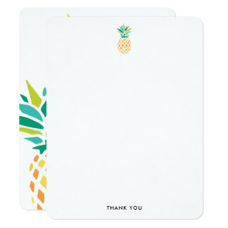 Carte Notes à la mode de Merci d'ananas