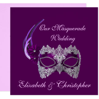 "Carte ""Notre masque de pourpre royal de mariage de"