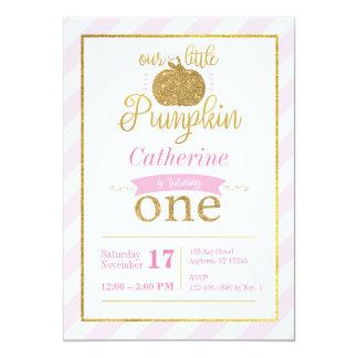 Carte Notre peu d'invitation d'anniversaire de rose d'or