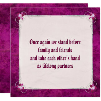 """Carte """"Nous faisons"""" renouvellement de voeu de mariage"""