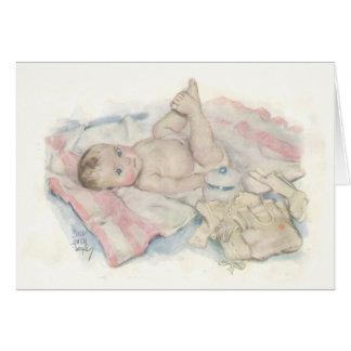 Carte nouveau-née de bébé
