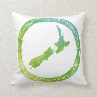 Carte Nouvelle Zélande Coussin