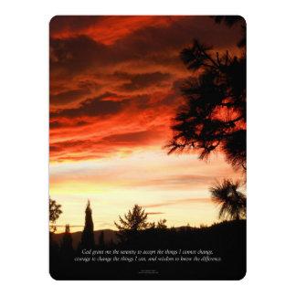 Carte Nuages de rouge de coucher du soleil de prière de