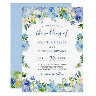 Carte Nuances du mariage floral en pastel d'hortensias