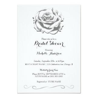 Carte nuptiale de douche de mariage rose
