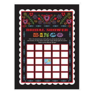 Carte nuptiale de jeu de bingo-test de douche de