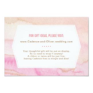 Carte nuptiale de marbre de l'information de carton d'invitation 8,89 cm x 12,70 cm