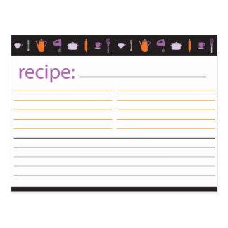 Carte nuptiale de recette de douche