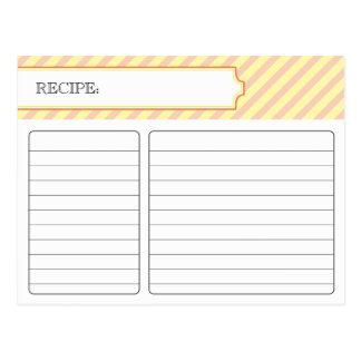 Carte nuptiale de recette - orange et jaune
