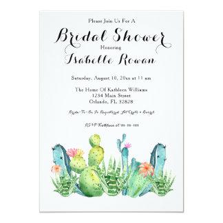 Carte nuptiale d'invitation de douche de cactus