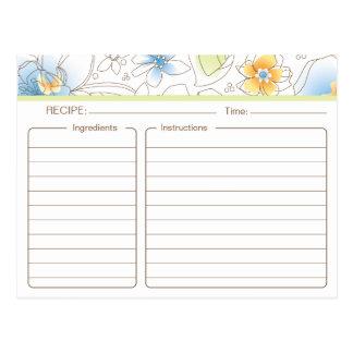 Carte nuptiale personnalisée de recette de douche