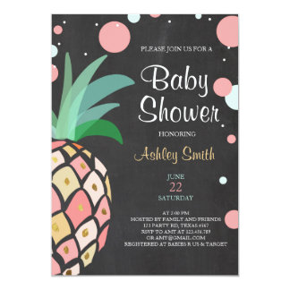Carte Nuptiale tropical d'invitation de baby shower