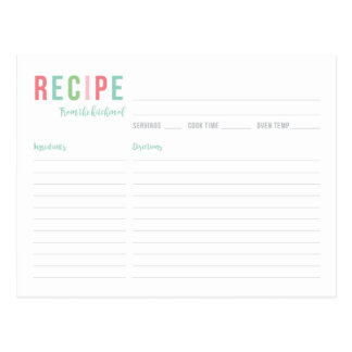Carte nuptiale turquoise et rose de recette de