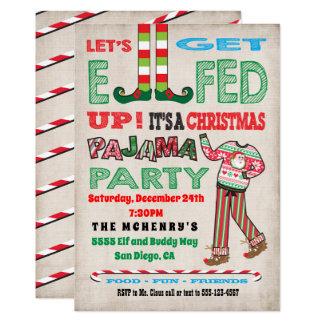 Carte Obtenons Elfed vers le haut de partie de pyjama de