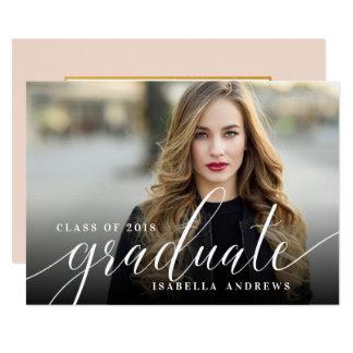 Carte Obtention du diplôme en lettres de photo de