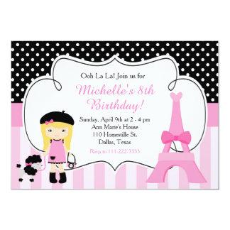 Carte Oh ! rose et noir de Tour Eiffel de Paris de La de