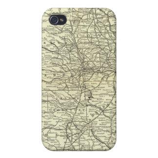 Carte Ohio et chemin de fer du Mississippi Coque iPhone 4/4S