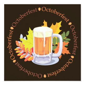 Carte Oktoberfest dans l'invitation ronde