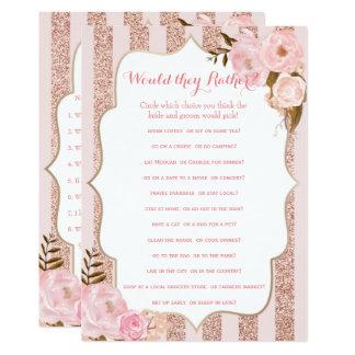 Carte Or 2 rose et jeux nuptiales roses de douche