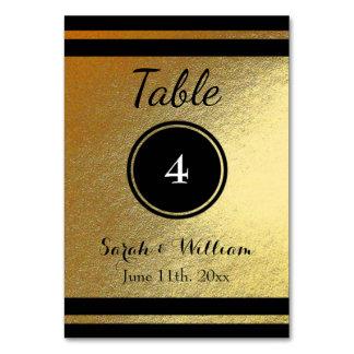 Carte Or personnalisable/CARTE de NOMBRE de TABLE de