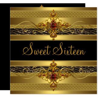 Carte Or riche élégant sauvage d'anniversaire de sweet
