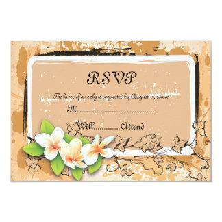 Carte orange du blanc RSVP de lierre vintage de Carton D'invitation 8,89 Cm X 12,70 Cm