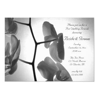 Carte Orchidées à l'invitation de brunch de mariage de