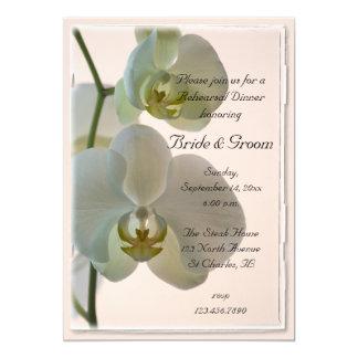 Carte Orchidées blanches élégantes épousant le dîner de