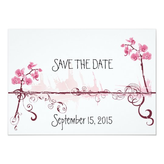 Carte Orchids Wedding Save the Date Card
