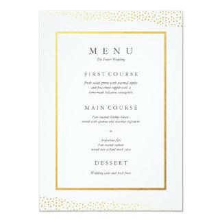 Carte organique de menu de mariage d'aluminium de carton d'invitation  12,7 cm x 17,78 cm