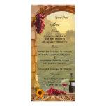 Carte orientée de menu de vignoble ou de vin motif pour double carte