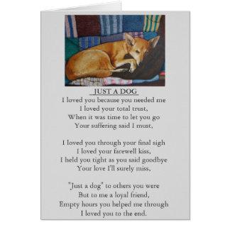 carte originale de poème de sympathie de chien et