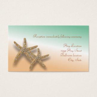 Carte ornée de bijoux de réception de mariage