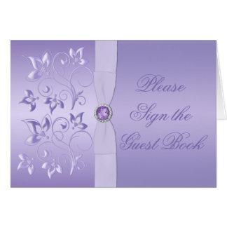 Carte ornée de bijoux florale de Tableau de