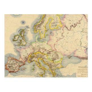 Carte orographique de l'Europe