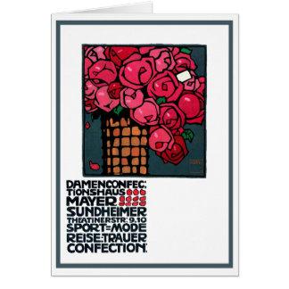 Carte ou invitation d'art : Roses - Ludwig