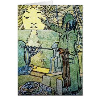 Carte ou invitation : Déesse de Sun par Alphonse