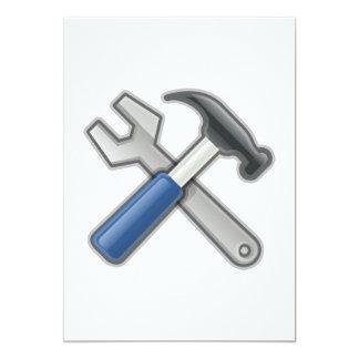 Carte Outils, marteau et clé