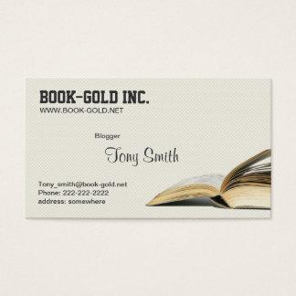 Carte ouverte de profil de Blogger de livre