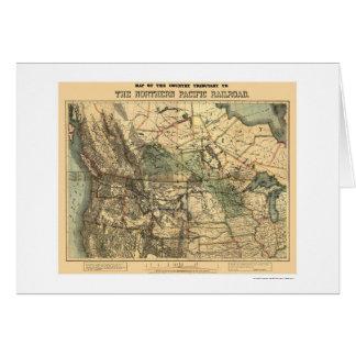 Carte Pacifique du nord 1871 de chemin de fer