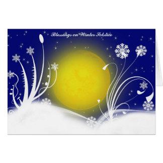 Carte païenne de bénédictions de solstice d'hiver