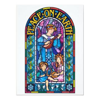 Carte Paix à l'invitation de Noël de Pre-Raphaelite de