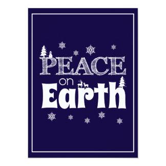 Carte Paix sur Noël de la terre