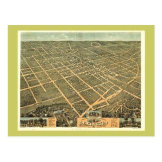 Carte panoramique antique de Lexington KY 1871