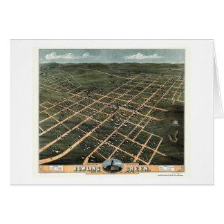 Carte panoramique de Bowling Green, KY - 1871