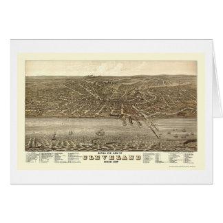 Carte panoramique de Cleveland, OH - 1877