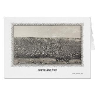 Carte panoramique de Cleveland, OH - 1887